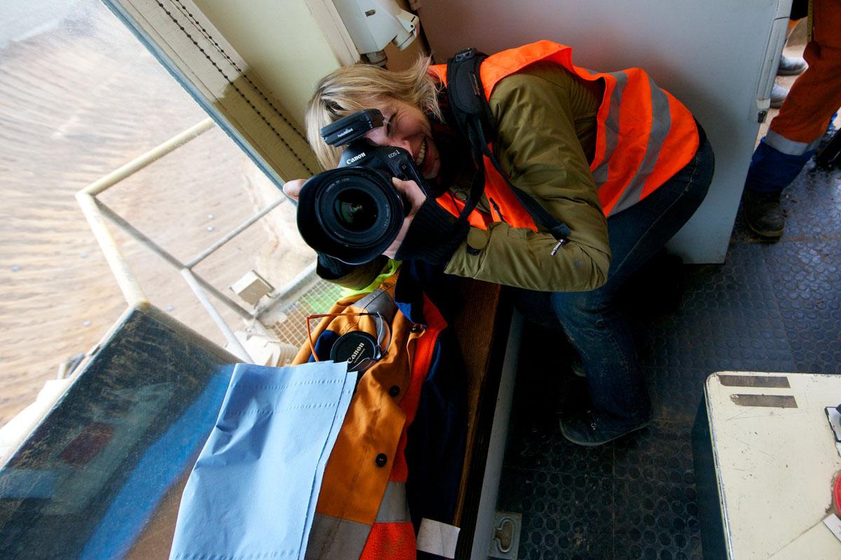 Industriefotograf en Ahrens+Steinbach Projekte on location